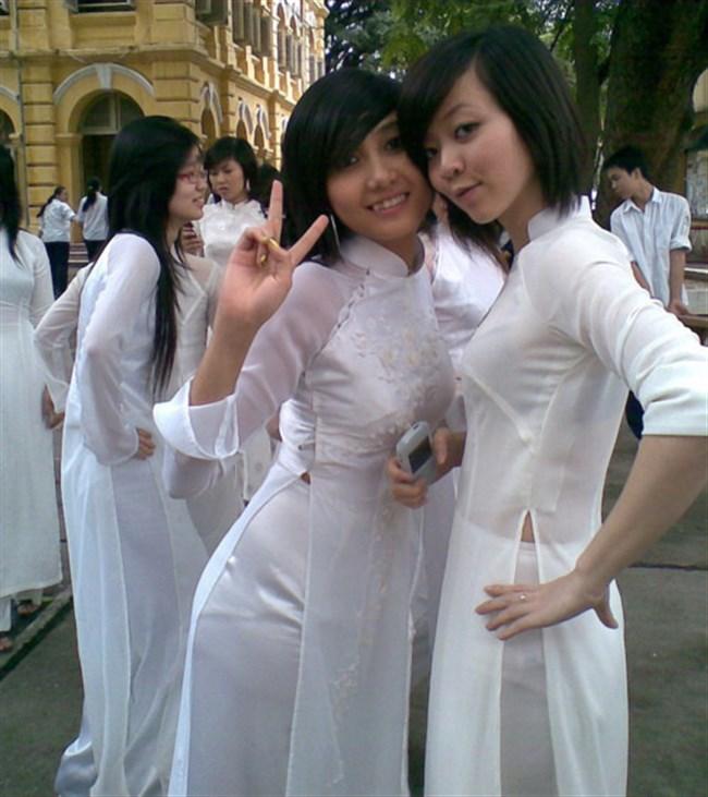 ベトナムのアオザイが透けまくっててえちえちwwwwww0027shikogin