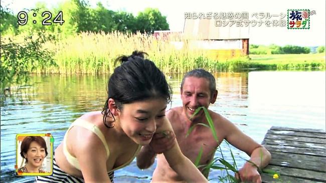 吉倉あおい~旅サラダでの水着姿でのサウナシーンは巨乳丸出しで極エロ!0006shikogin