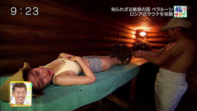 吉倉あおい~旅サラダでの水着姿でのサウナシーンは巨乳丸出しで極エロ!0014shikogin