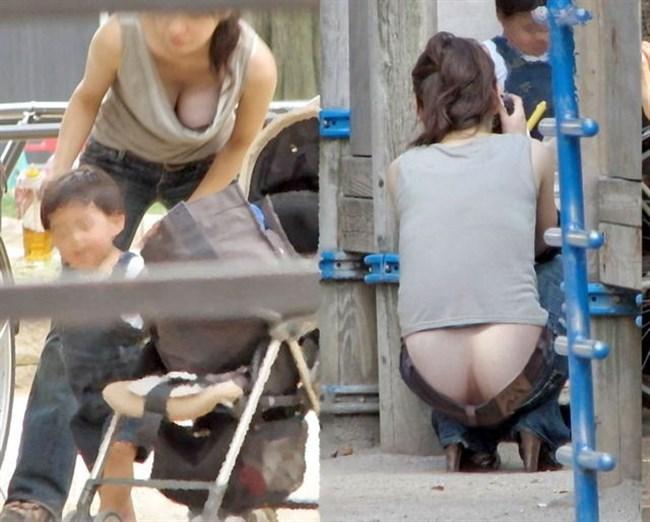 子持ちママ、胸元ぱっくり開けて谷間チラ連発wwwww0011shikogin