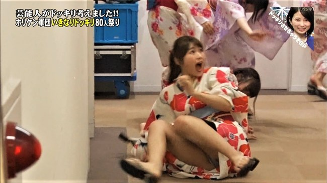 渋谷凪咲[NMB48]~ドッキリでひっくり返ってグレーの生パンティーをモロな放送事故!0007shikogin
