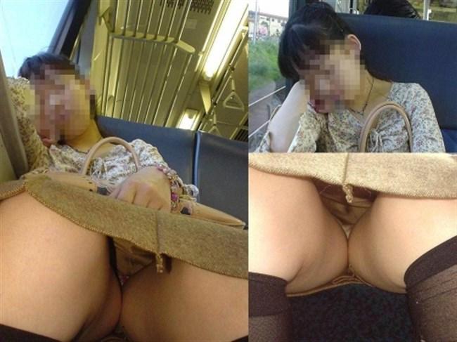 ミニスカなのに電車内で爆睡してしまったお姉さんの末路www0013shikogin