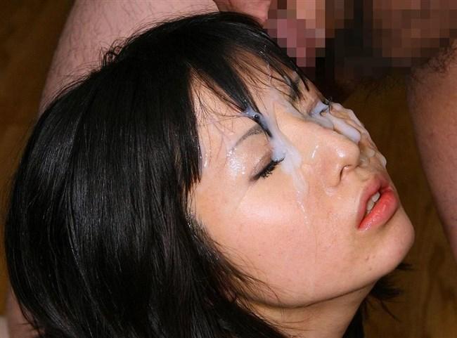 まんさんの綺麗な神や顔をたっぷりザーメンで汚した絵面wwww0003shikogin