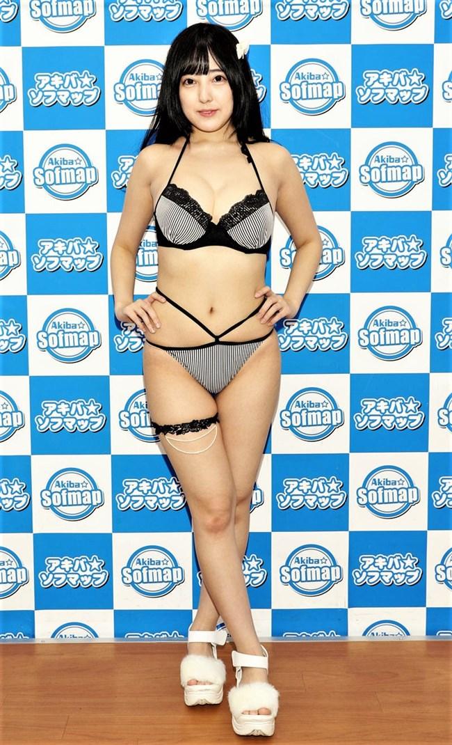 佐藤莉理~Gカップのグラドル、1stDVD発表会での水着姿はエロさ爆発!0004shikogin
