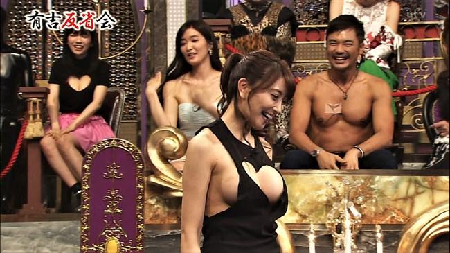 森咲智美~有吉反省会で乳首が見えそうな夢魔元が超ギリギリの衣装で登場!0013shikogin