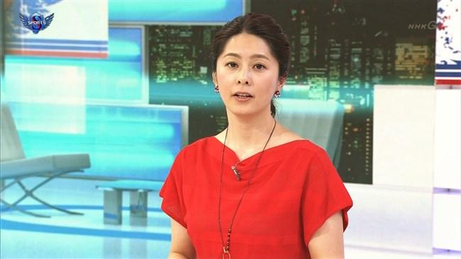 杉浦友紀~赤い服で胸の膨らみも鮮やかなサタデースポーツ、色っぽ過ぎる!0006shikogin