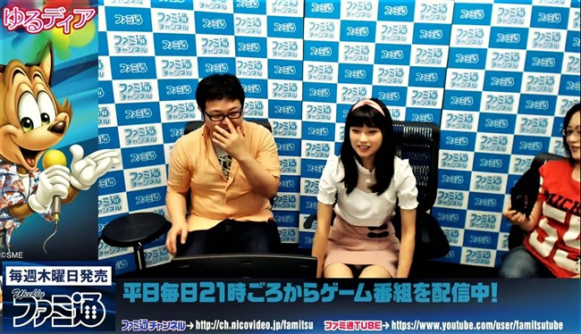 高野麻里佳~ブレイク中の若手アイドル声優が番組内で鮮明な白パンチラ!0004shikogin