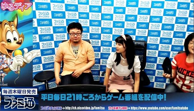 高野麻里佳~ブレイク中の若手アイドル声優が番組内で鮮明な白パンチラ!0002shikogin