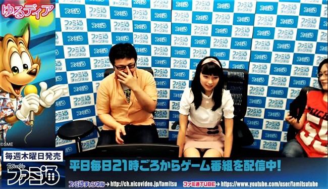 高野麻里佳~ブレイク中の若手アイドル声優が番組内で鮮明な白パンチラ!0005shikogin