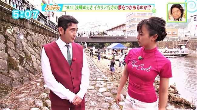 山田桃子~静岡のアイドルアナ、ウェットスーツで巨乳な姿が超エロい!0007shikogin