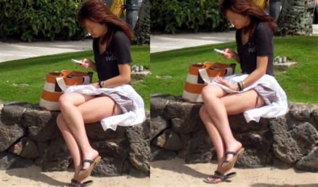 強風の日のスカート女子の後ろはパンチラパラダイスwww0009shikogin