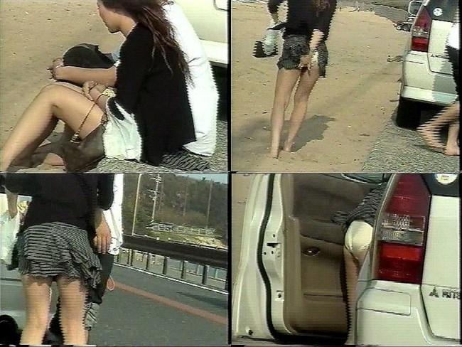 強風の日のスカート女子の後ろはパンチラパラダイスwww0027shikogin