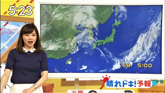 尾崎朋美~TBSはやドキ!のお天気お姉さんは可愛くてオッパイの膨らみもエロい!0003shikogin