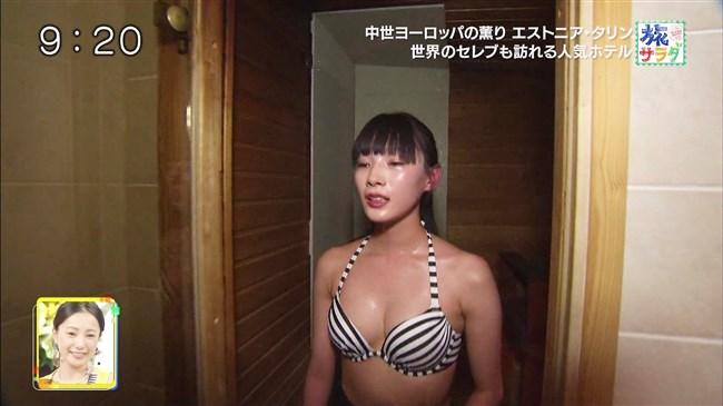江田友莉亜~旅サラダでの水着姿がオッパイ大きく超エロい身体で興奮!0010shikogin