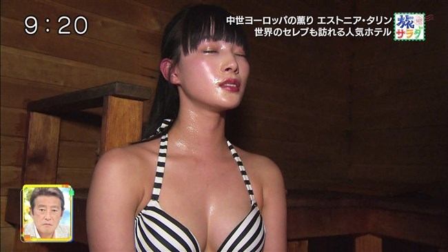 江田友莉亜~旅サラダでの水着姿がオッパイ大きく超エロい身体で興奮!0009shikogin