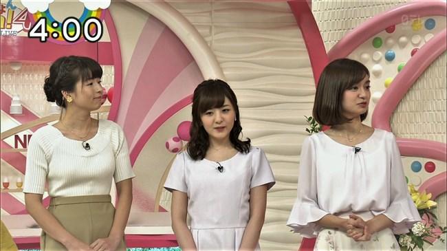 榊菜美~Oha!4での白ニット服での胸の膨らみは大き過ぎてポチが出ている?0003shikogin