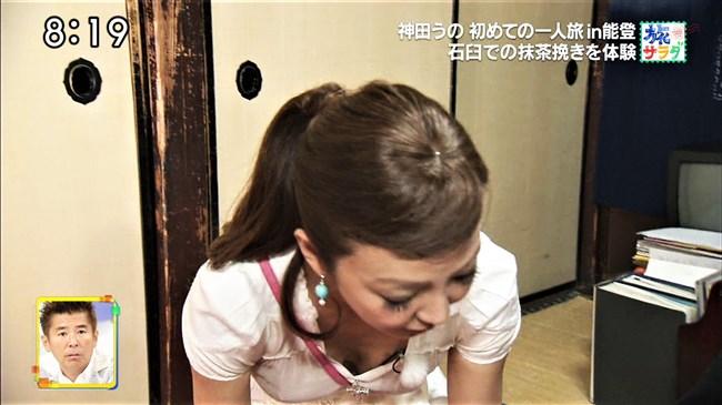 神田うの~旅サラダにて巨乳をアピールし乳首ポチまで出してしまった放送事故!0008shikogin