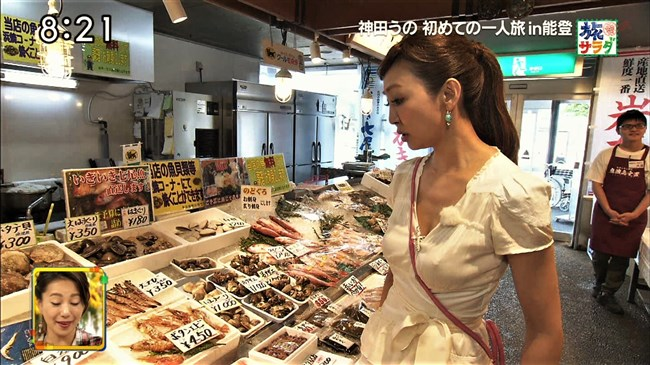 神田うの~旅サラダにて巨乳をアピールし乳首ポチまで出してしまった放送事故!0012shikogin