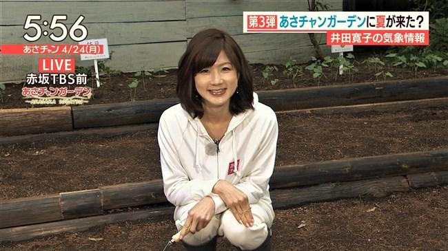 井田寛子~あさチャンでの白パンでしゃがんだ姿がモリマンでパン線出ててエロい!0002shikogin