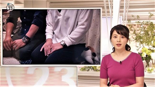 皆川玲奈~NEWS23での薄手な衣装がオッパイを強調して妙にエロかったゾ!0007shikogin