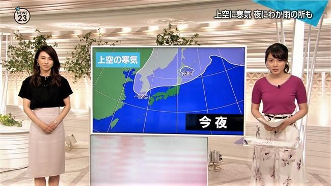 皆川玲奈~NEWS23での薄手な衣装がオッパイを強調して妙にエロかったゾ!0009shikogin