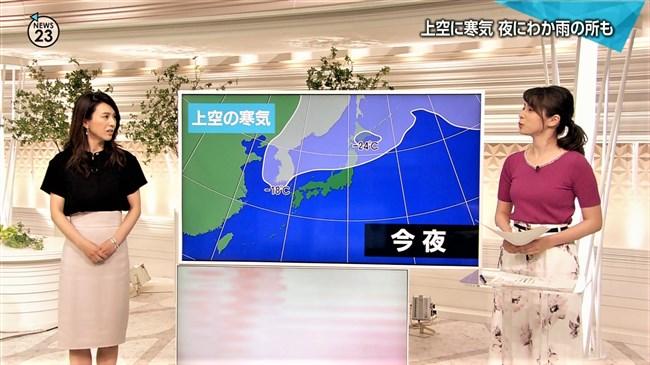 皆川玲奈~NEWS23での薄手な衣装がオッパイを強調して妙にエロかったゾ!0010shikogin