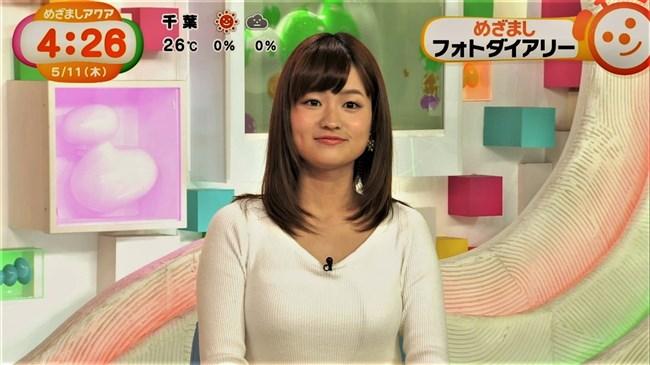 篠原梨菜~めざましテレビアクアでのニット服の胸の膨らみが柔らかそう!0009shikogin