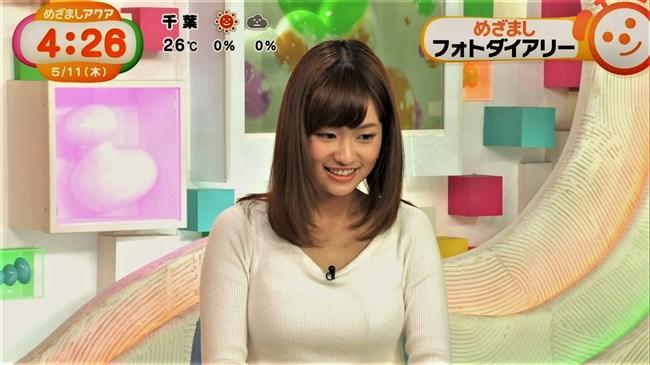 篠原梨菜~めざましテレビアクアでのニット服の胸の膨らみが柔らかそう!0010shikogin