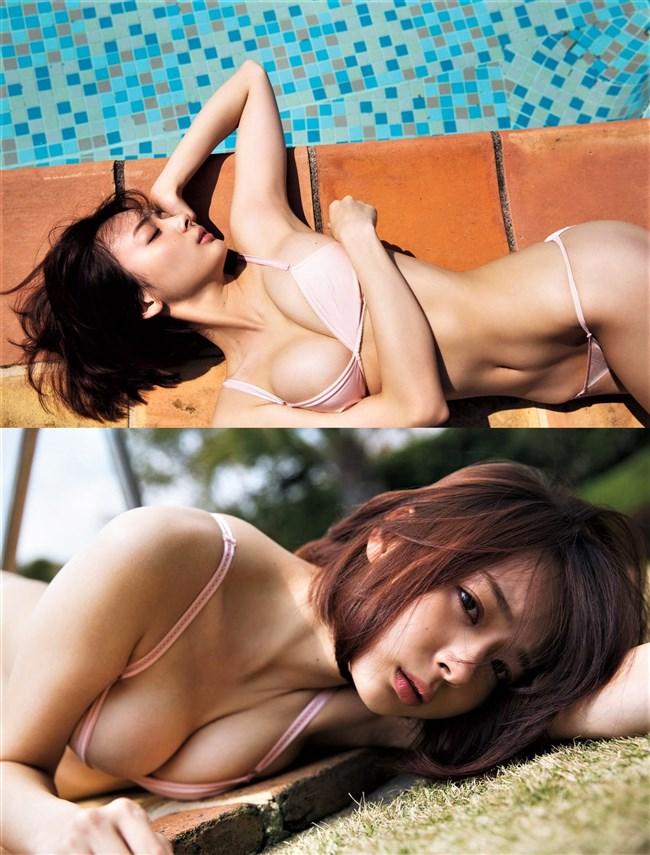 岡田紗佳~FRIDAYの最新水着グラビアはオッパイがハミ出してて超エロい!0006shikogin