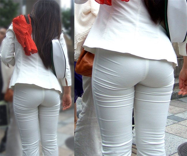 デカ尻でパン線がくっきり浮き出てしまってる女性wwww0005shikogin