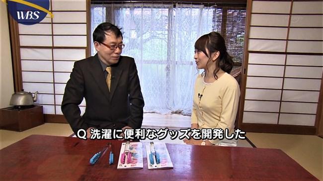 片渕茜~可愛い微乳アナのニット服でのプチ膨らみが何かエロくてドキドキ!0008shikogin