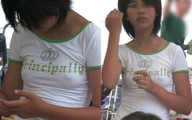 ノーブラで乳首が勃起してしまった女子の乳首ポチがヤラシイwww0004shikogin