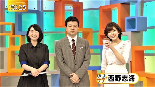 西野志海~テレビ東京ゆうサテでのオッパイの膨らみは尋常じゃなく凄い!0002shikogin