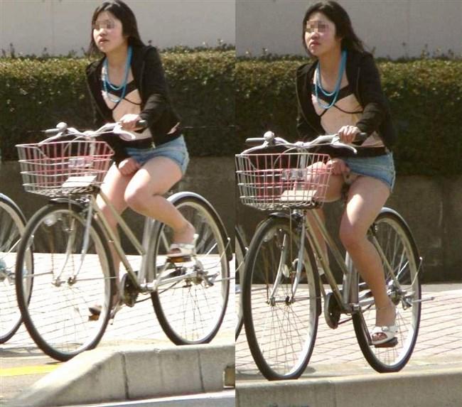 ミニスカ女子が自転車に乗ると高確率でパンチラする法則www0014shikogin