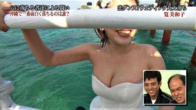 筧美和子~「恋ダンス! ウェディング丸太落ち」にて爆乳ポロリハプニング!0010shikogin