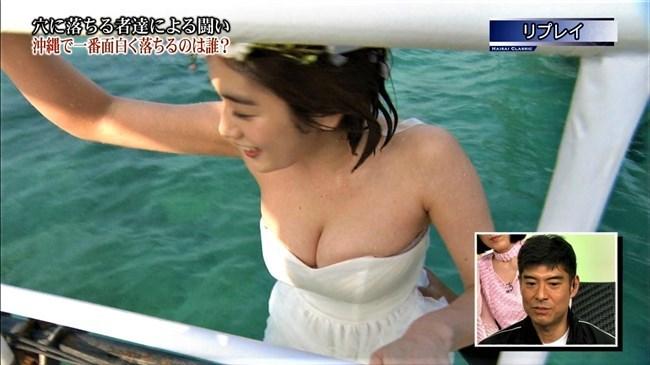 筧美和子~「恋ダンス! ウェディング丸太落ち」にて爆乳ポロリハプニング!0014shikogin