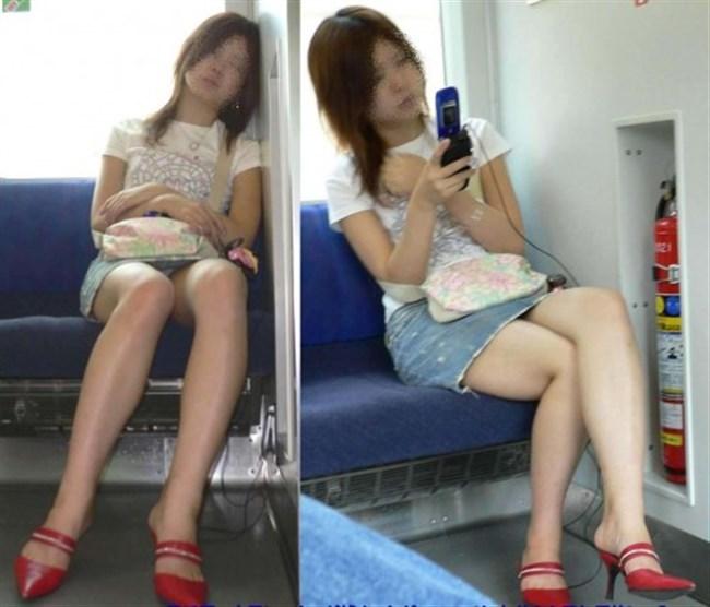 ミニスカ女子が電車内で爆睡するとこうなるwwww0002shikogin