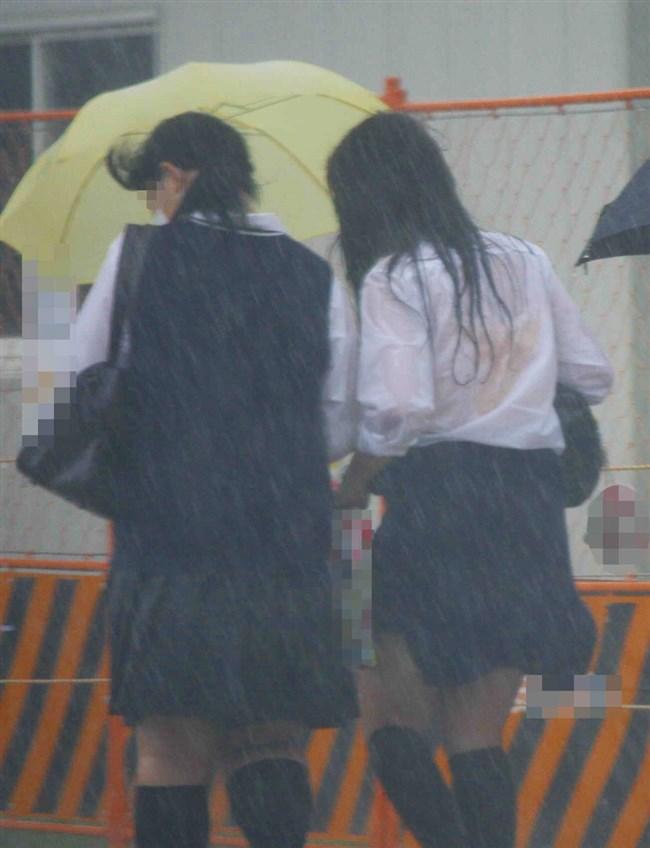 夏服JKが線状降水帯の集中豪雨に狙われてえちえちにwwww0020shikogin