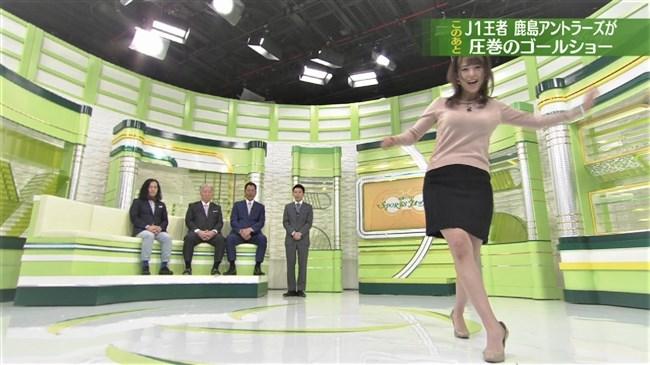 鷲見玲奈~スポーツ番組での巨乳強調のアクション場面がエロ過ぎて興奮!0010shikogin