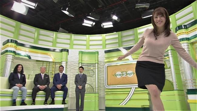 鷲見玲奈~スポーツ番組での巨乳強調のアクション場面がエロ過ぎて興奮!0011shikogin