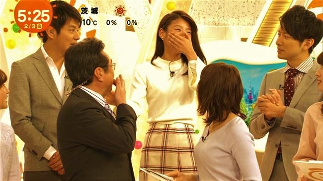 永島優美~めざましテレビでのニット服オッパイの膨らみはやっぱエロい!0006shikogin