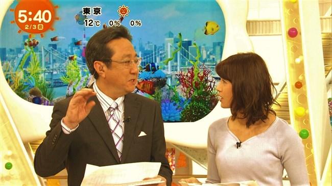 永島優美~めざましテレビでのニット服オッパイの膨らみはやっぱエロい!0008shikogin