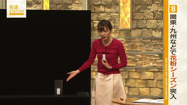 久冨慶子~花粉防止スプレーを実践しブラに服が引っかかる放送事故発生!0008shikogin