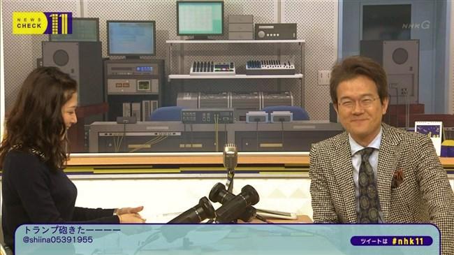 桑子真帆~ニュースチェック11は横チチを見せつける番組だったんだな!0003shikogin