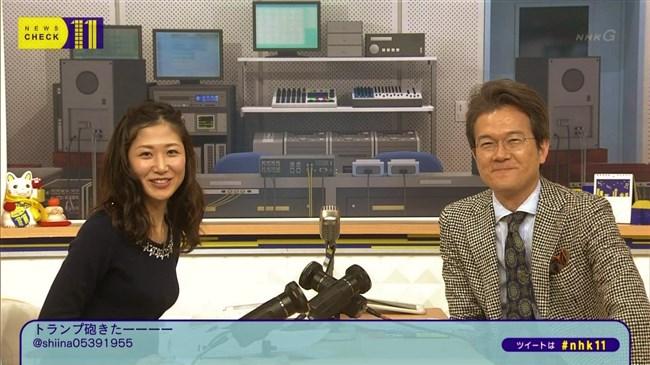 桑子真帆~ニュースチェック11は横チチを見せつける番組だったんだな!0011shikogin
