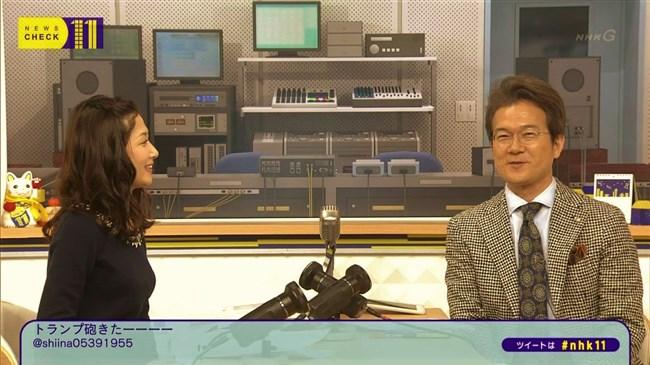 桑子真帆~ニュースチェック11は横チチを見せつける番組だったんだな!0010shikogin