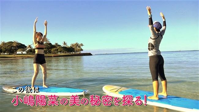 小嶋陽菜~旅番組でのエロい水着姿は胸パッドがハミ出ていて股間もスジが!0005shikogin