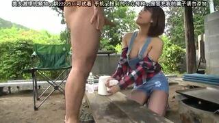 【おっぱい】野外にて、色白スレンダービッチな巨乳の若妻人妻の、他人棒浮気露出無料エロ動画!【フェラ、セックス動画】