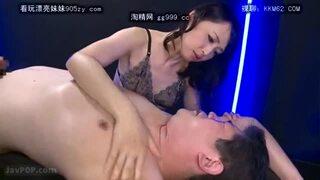 【安野由美 M男】五十路の熟女痴女、安野由美のM男アナルフェラプレイ動画。