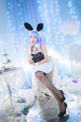 Rem Glitter Bunny Girl Cosplay Re Zero to Start Otherworldly Life009